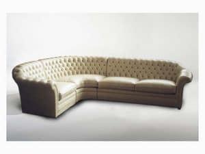 Lloyd Angular Sofa, Corner sofa for large living rooms, classic style