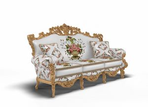 Luxor sofa, Richly carved sofa