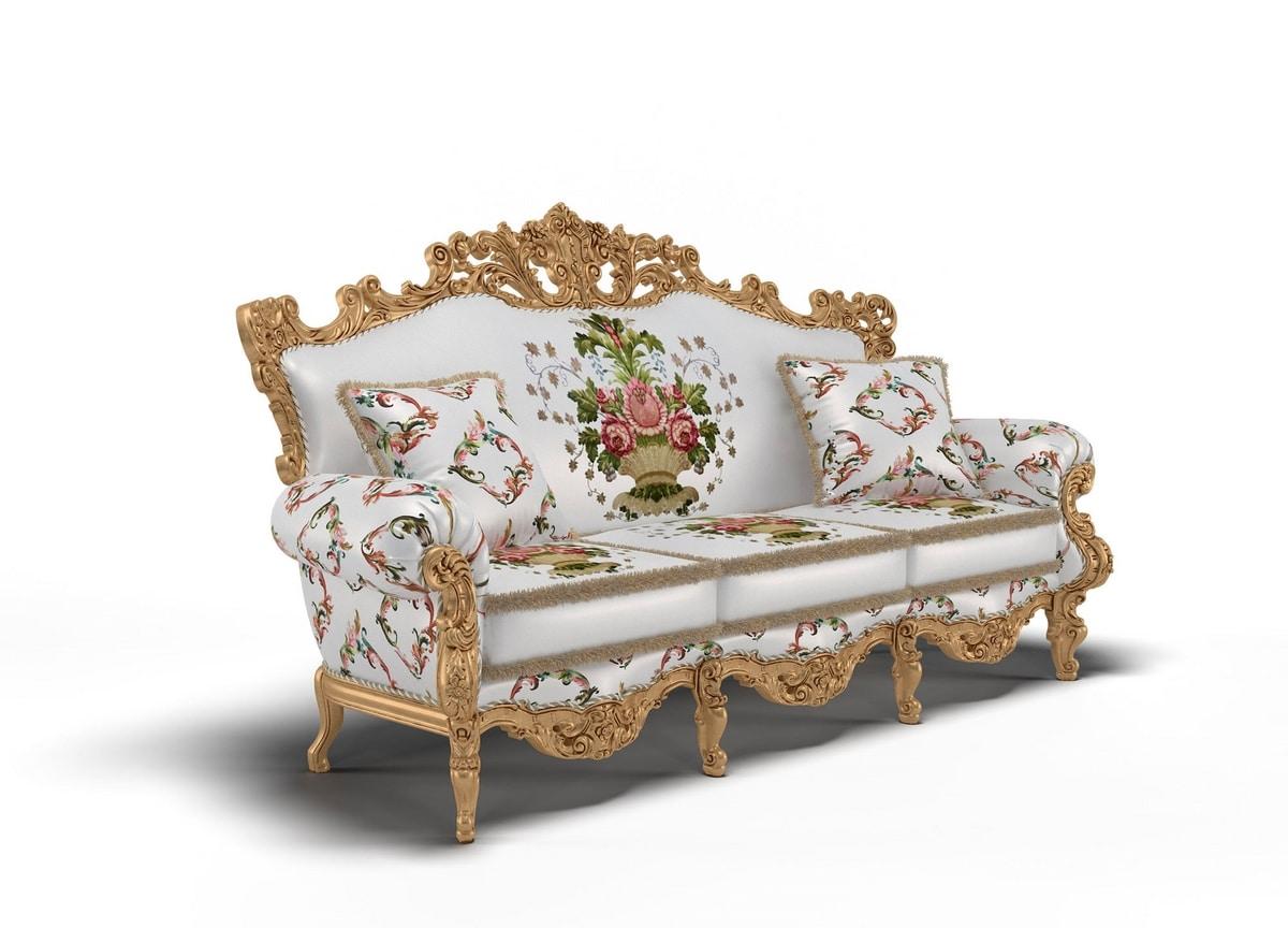 Luxor sofa, Richly carved sofa