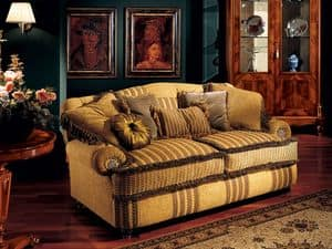 Marcus sofa, Luxury sofa with low armrests, classic style
