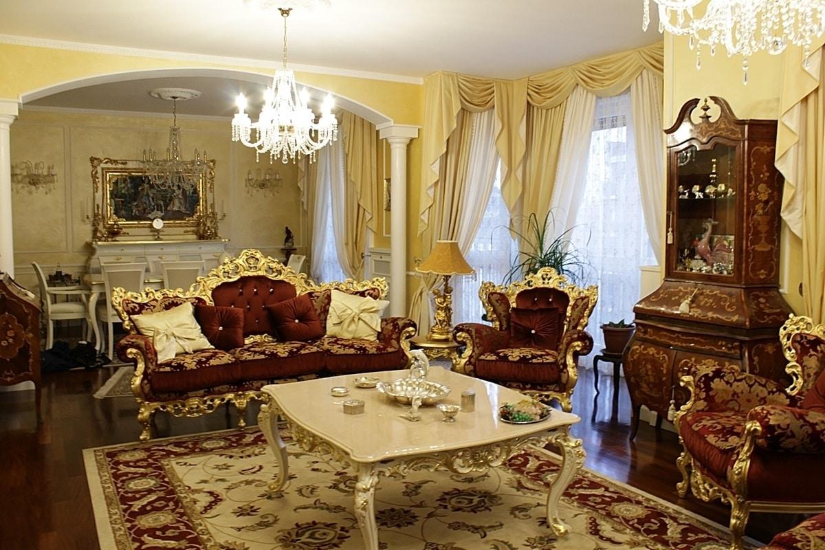 Maria fabric, Luxury classic sofa