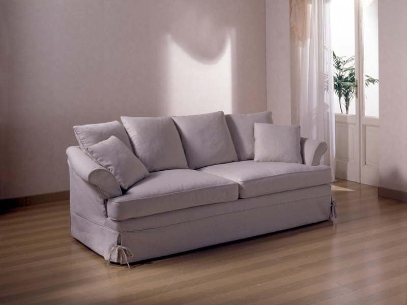 Marlene Sofa, Sofa for sitting room, with removable fabric upholstery