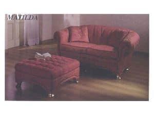Matilda Sofa, Classic style sofa, for reception and sitting room