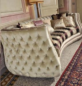 Michelle, Upholstered quilted sofa in classic luxury style