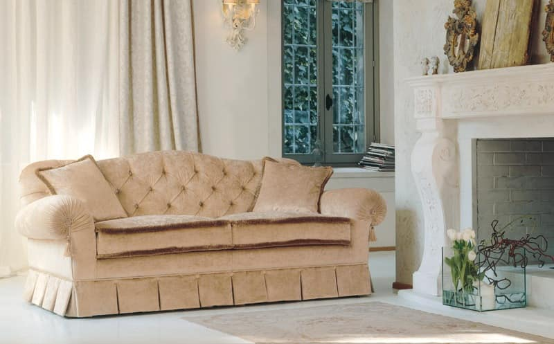 Morfeo, Sofa with tufted back, for classics living rooms