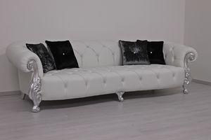Oceano leather 4-seater, 4-seater leather sofa