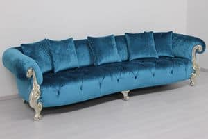 Oceano turquoise, Classic sofa ideal for luxury villas and hotels
