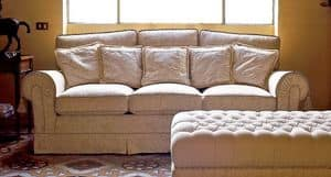 Principe, Classic sofa, for luxury living rooms