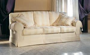 Principe slim, Upholstered classic luxury sofa, for hotel hall