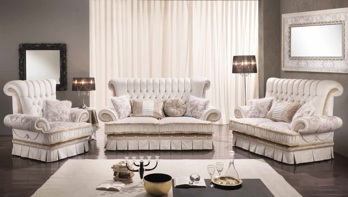 QUEEN, Classic style sofa with 2 or 3 seats