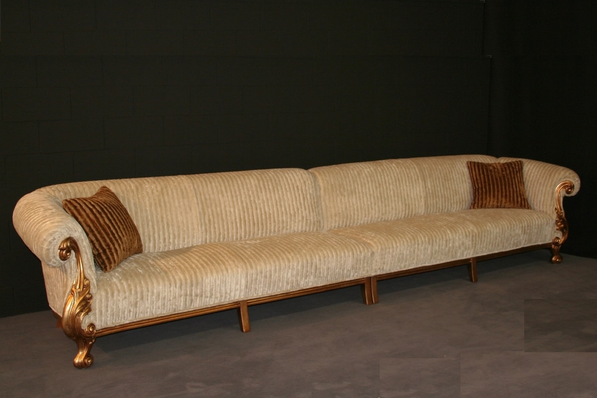 Queen modular, Classic sofa with solid beech wood structure