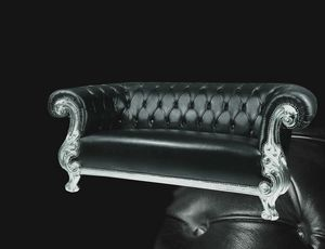Queen leather, Carved sofa, classic contemporary style