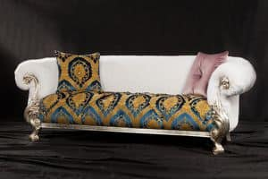 Queen Damasco, Luxury sofa, revisited baroque style