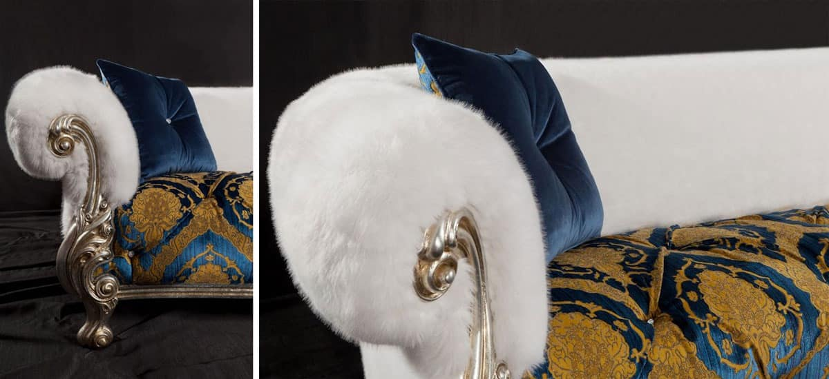 Queen Damasco, Luxury sofa, revisited baroque style