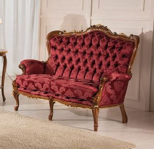 Rex 2 seater sofa, Classic carved sofa