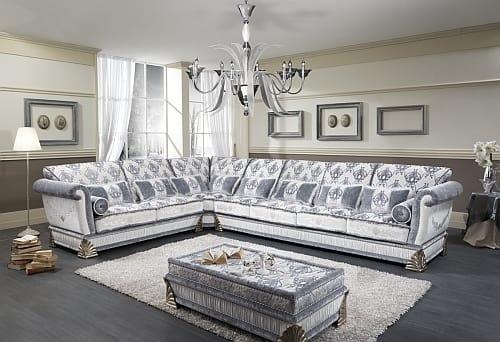 RIALTO angular, Customizable corner sofa, luxury classic style