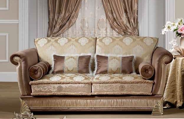 Efterstræbte 2-seater sofa, classic style   IDFdesign OG-56