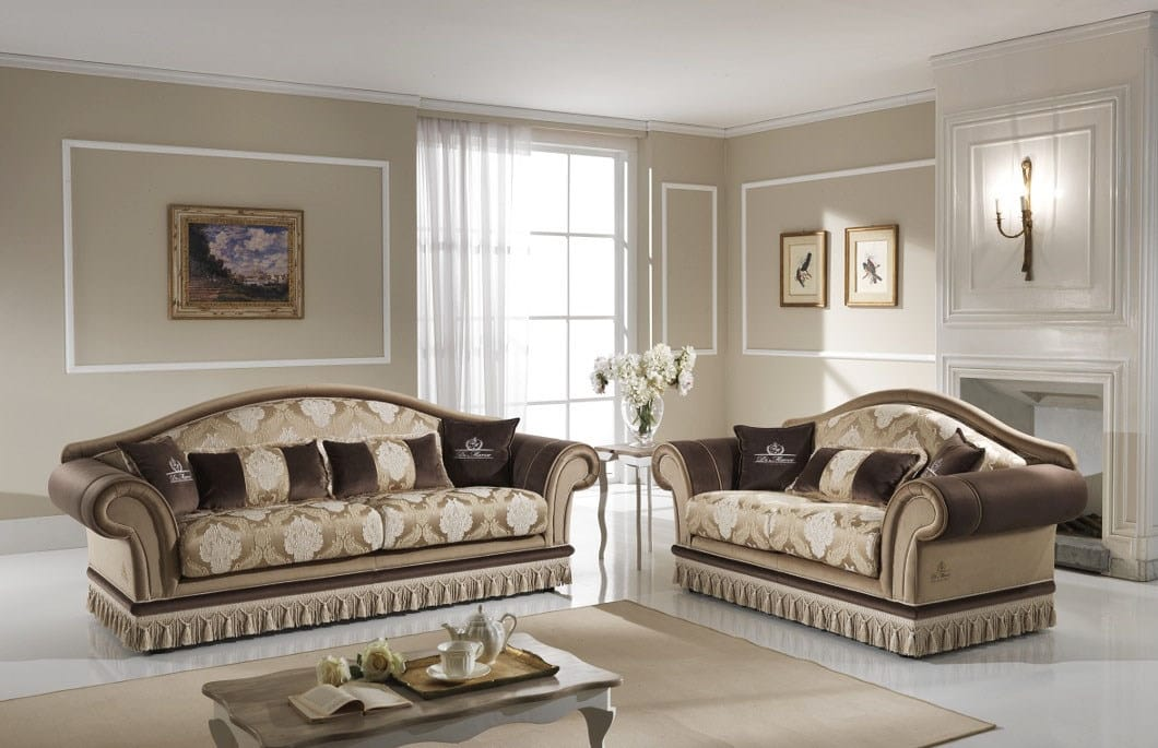 SAMIRA, 2 or 3 seat sofa with removable backrest