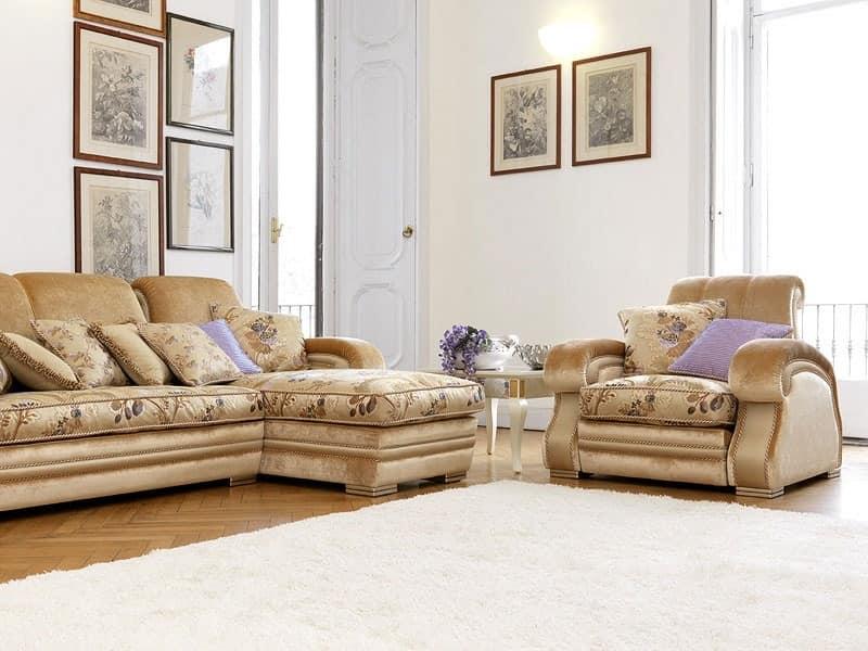 Sibilla, Classic style sofa Practice