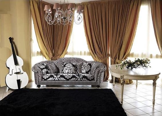 Silvia sofa, Luxury classic sofa for lounge room