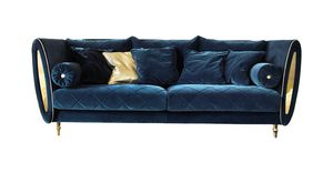 SIPARIO Sofa, Classic sofa with golden feet