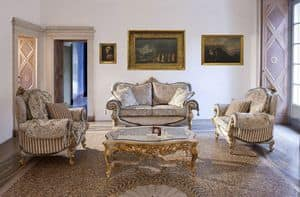 Touileries, Sofa and armchair for classic style rooms