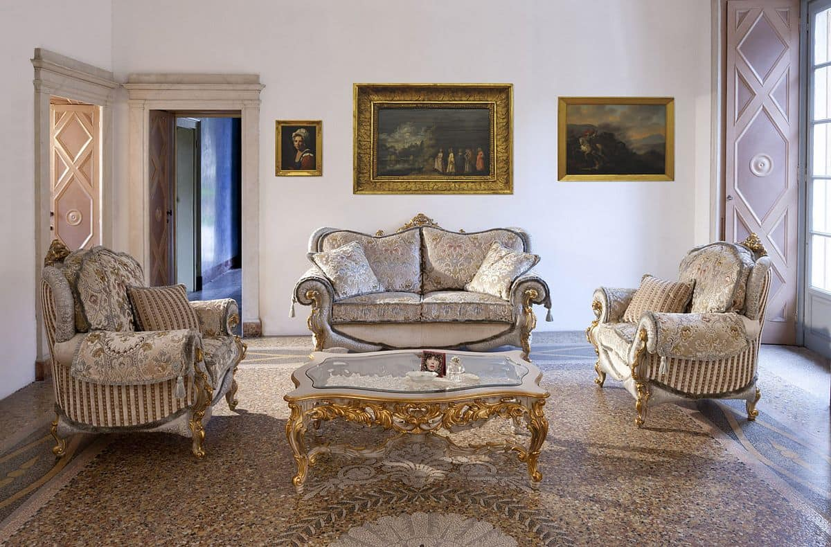 Divani E Divani Classici.Sofa And Armchair For Classic Style Rooms Idfdesign