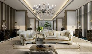VANITY, Classic sofa with prestigious embroidery