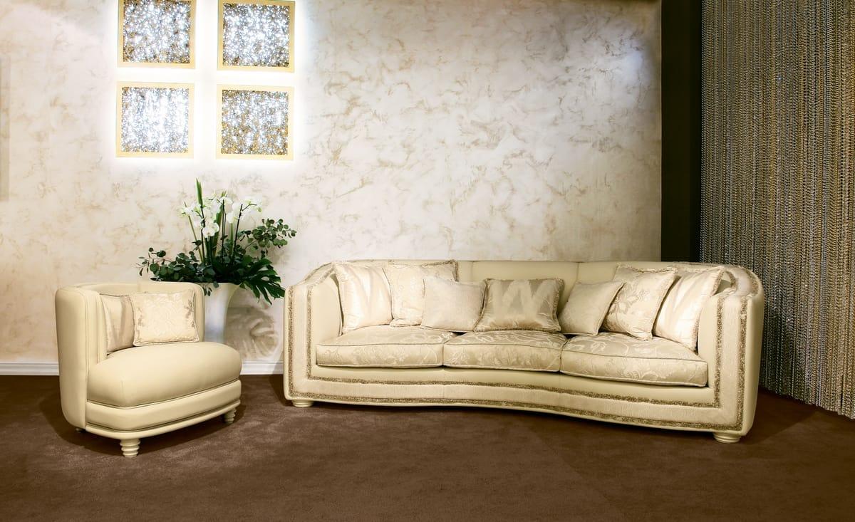 Venere, Corner classic sofa in original contemporary style