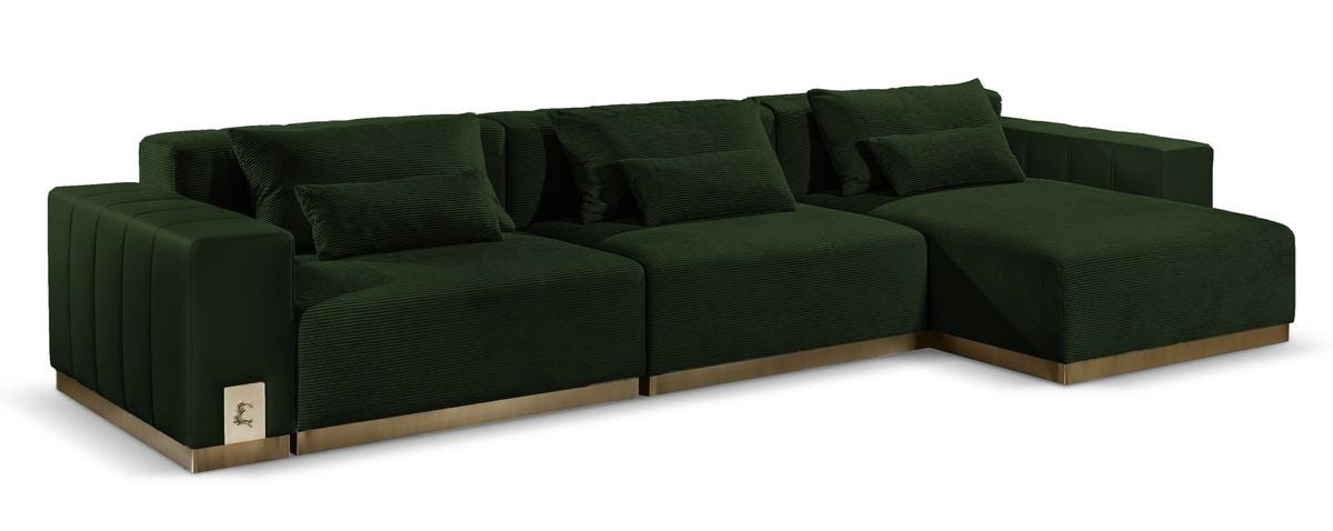 Vietri, Modular sofa with large seat