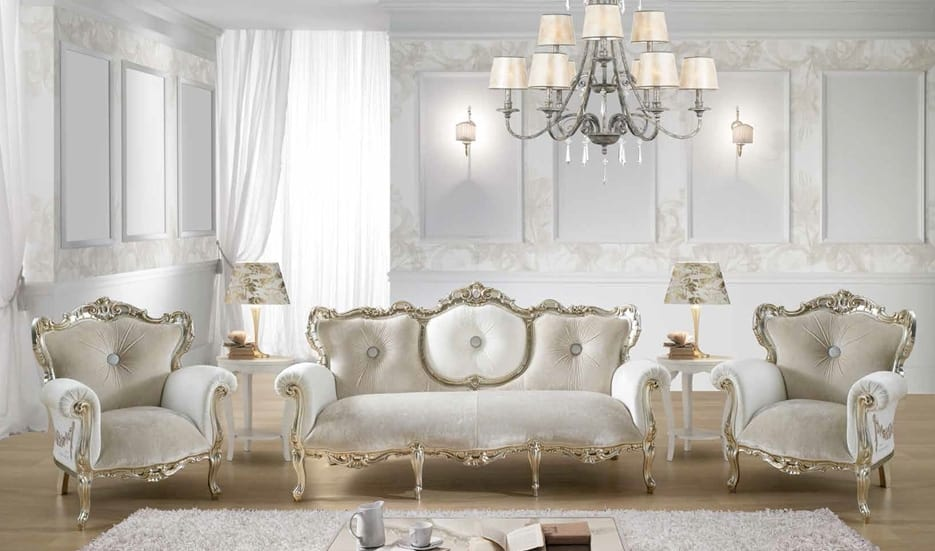 VINTAGE, Baroque sofa, with Swarovski
