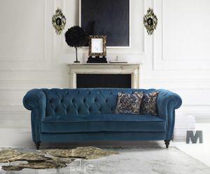 Vogue, Classic sofa upholstered in velvet