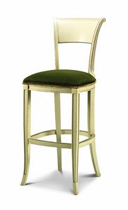1070/B, Wooden stool with padded seat