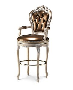 1700/B, Classic stool with armrests