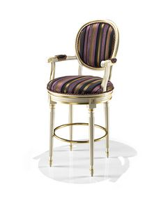 1701/B, Stool with round backrest