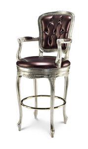 1702/B, Stool with capitonn� backrest, with Swarovski