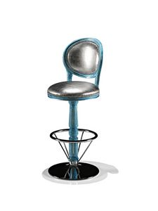 1705/B, Swivel barstool for luxury hotel