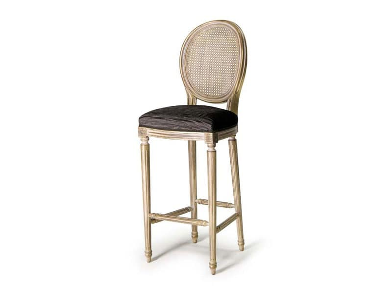 Art.448 barstool, Louis XVI style stool, for bars and pubs