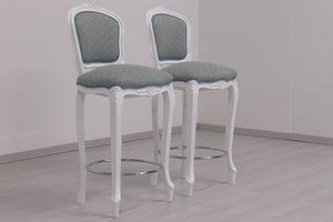 Brianza barstool, French Rococo style stool