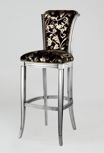 BS062B - Stool, Classic style stool with high back