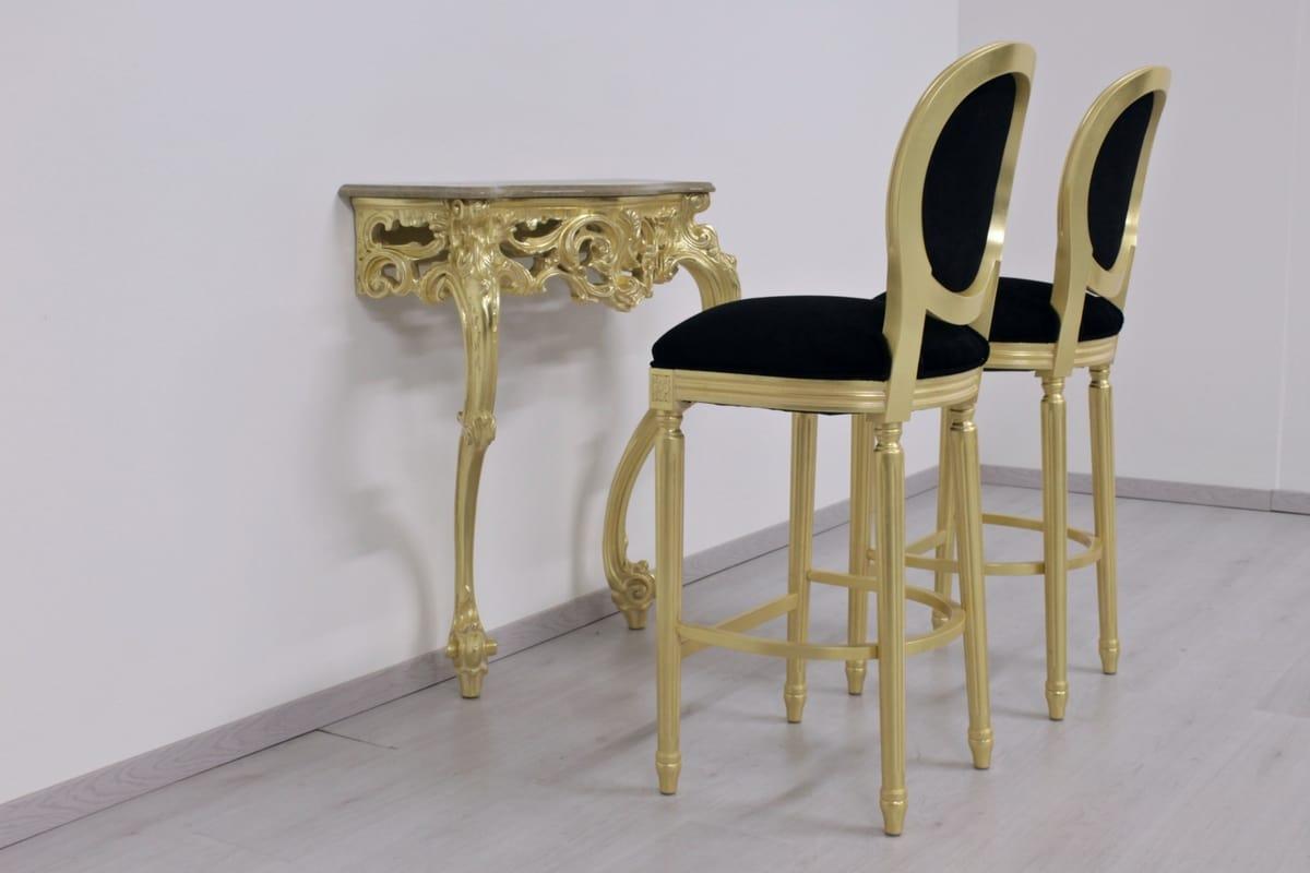 Rotondo fabric, Classic stool, with ergonomic round backrest