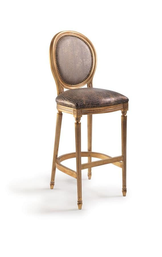 SB/3100/B, Barstool with upholstered seat and back