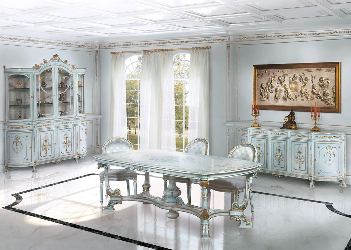 206, Dining room lacquered white, for living area