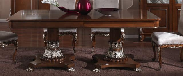 3625 TABLE, Rectangular table with inlaid top, for dining room