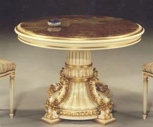 5030 TABLE, Classic table with round top suitable for dining rooms