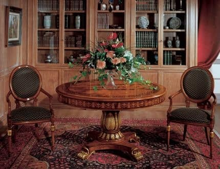 Art. 1112, Round table made of inlaid wood for dining rooms