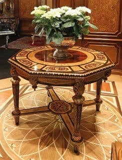 Art. 1185, Octagonal inlaid table, for luxury hotels and homes