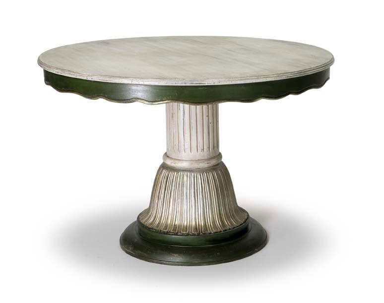 Art.140 dining table, Classic style table with central column
