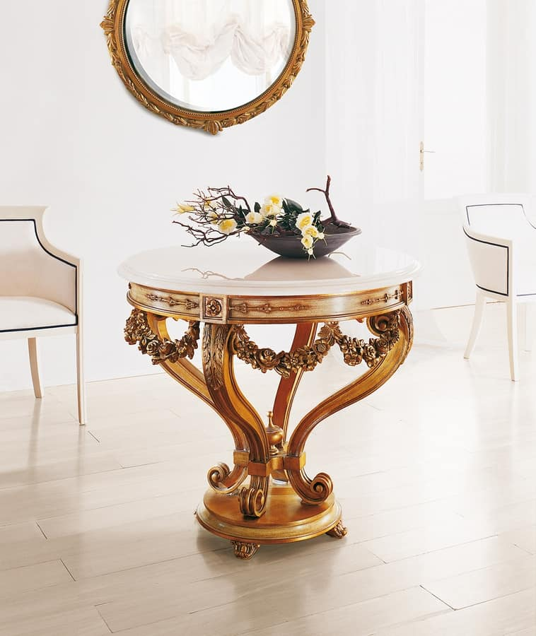Art. 185, Round table with marble top