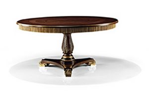 2573/T, Classic wooden table with round top